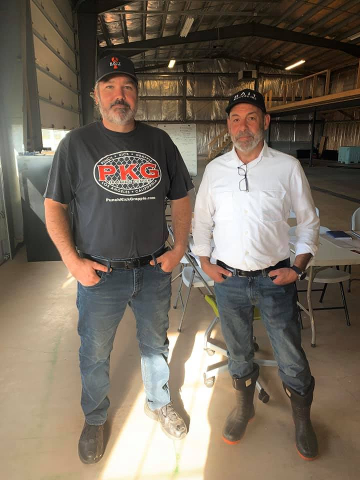 Bait Masters Inc. CEOs Wally MacPhee and Mark Prevost stand side-by-side.